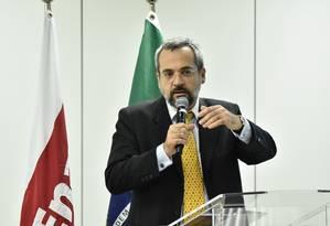 O economista Abraham Weintraub durante evento no período de transição do governo de Jair Bolsonaro Foto: Divulgação/PR