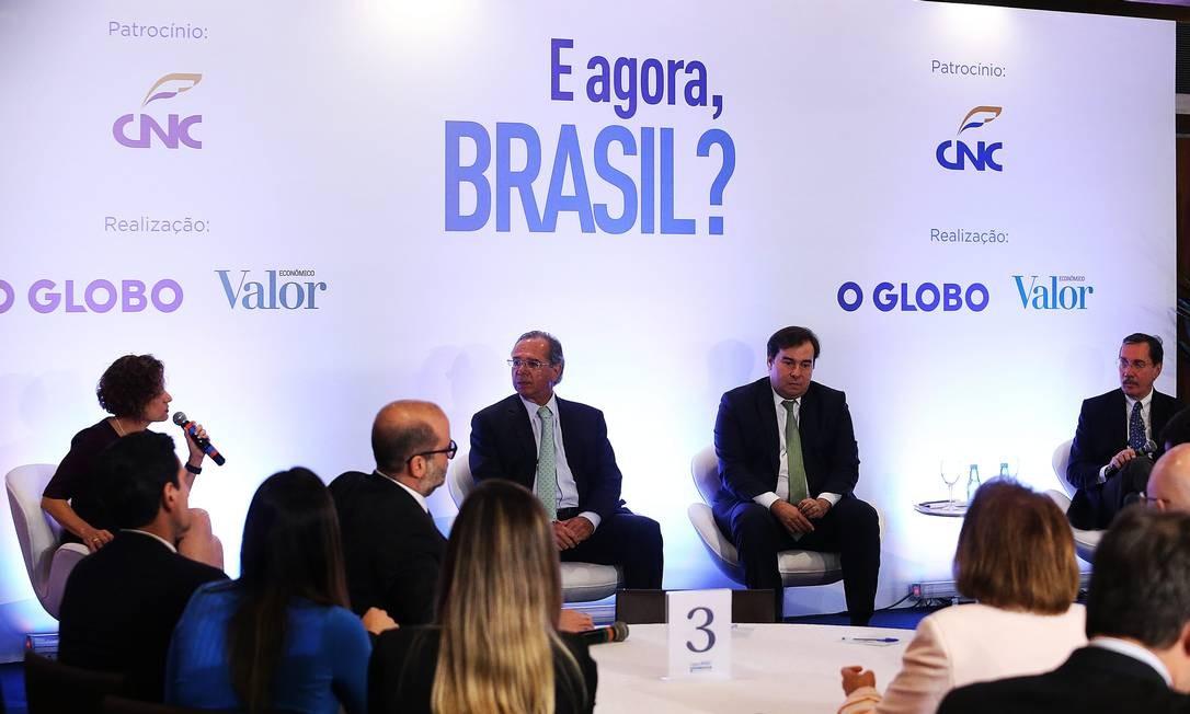 O evento 'E agora Brasil? em Brasília. Foto: Ailton de Freitas / Agência O Globo
