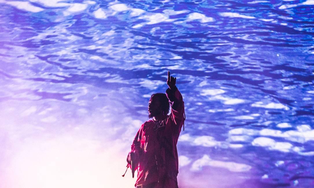 Kendrick Lamar se apresenta no Lollapalooza Foto: Rodrigo Gianesi / Agência O GLOBO