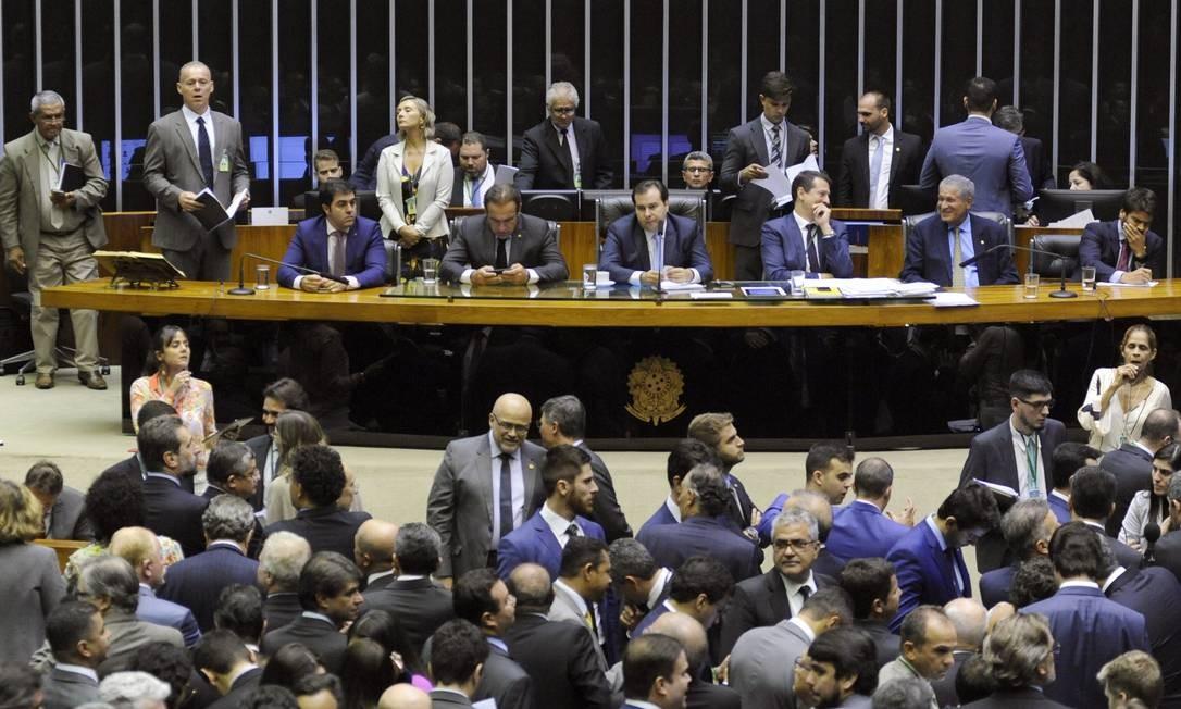 Em 26 de março, No mesmo dia em que o ministro da Economia, Paulo Guedes, principal fiador da reforma da Previdência, desistiu de ir à Câmara debater o tema, os deputados aprovaram proposta que tirou poder do governo sobre o Orçamento, em votação relâmpago Foto: Luis Macedo / Agência Câmara