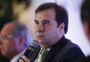 Deputado Rodrigo Maia, presidente da Câmara dos Deputados, participa do