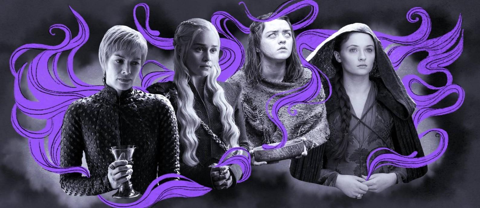 Mulheres de Game of Thrones Foto: Ilustração de Lari Arantes sobre reprodução