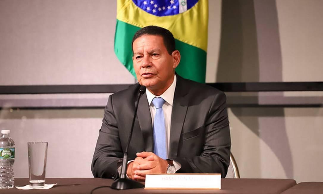 O vice-presidente da República, Hamilton Mourão 05/04/2019 Foto: Divulgação