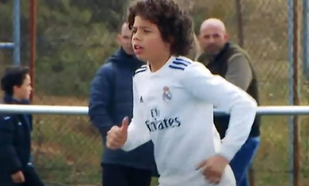 Enzo, filho de Marcelo, é destaque do sub-10 do Real Madrid Foto: Reprodução
