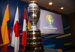 Troféu da Copa América, que será entregue ao campeão em 7 de julho de 2019 Foto: Alex Ferro/COL CA 2019/Divulgação