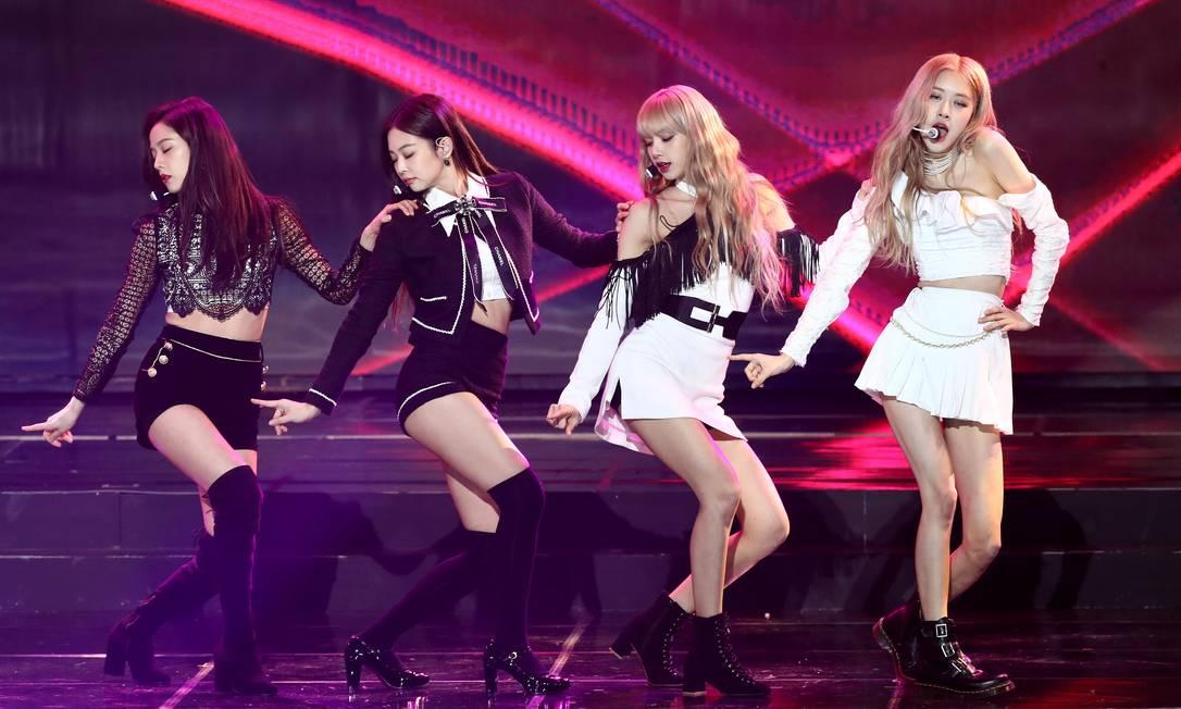 BlackPink, em janeiro, durante apresentação na oitava ediçao do Gaon Chart K-Pop Awards, em Seul Foto: Chung Sung-Jun / Getty Images