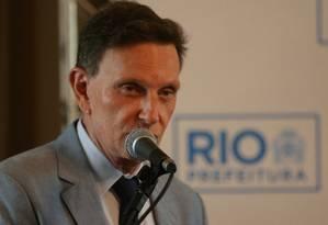 Crivella admitiu demora na reação da prefeitura Foto: Guilherme Pinto / Agência O Globo