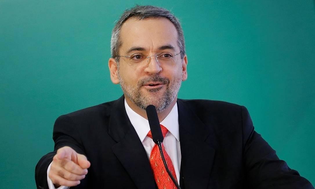 Ministro da Educação Abraham Weintraub Foto: ADRIANO MACHADO / REUTERS