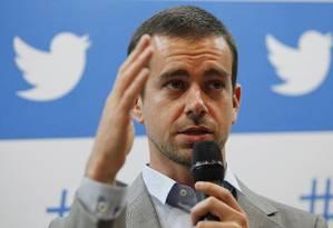 Jack Dorsey, cofundador e presidente executivo do Twitter Foto: Eliária Andrade / Globo/11-42013