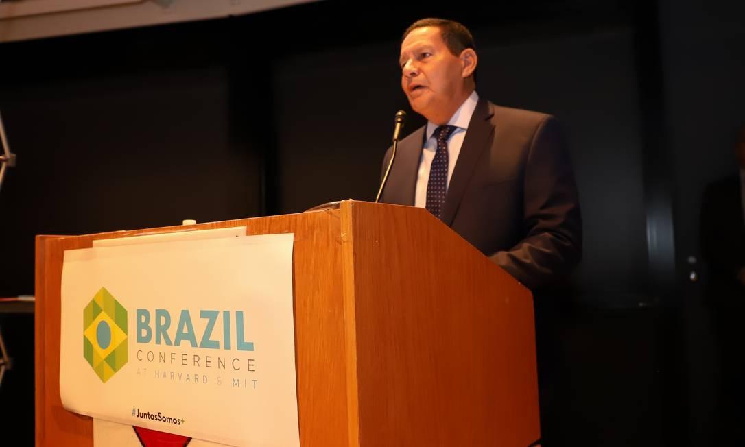 O vice-presidente Hamilton Mourão durante agenda oficial nos Estados Unidos Foto: Romerio Cunha / PR