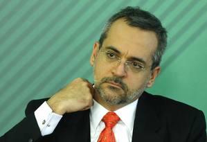 O ministro da Educação, Abraham Bragança de Vasconcellos Weintraub, na solenidade de posse no Planalto Foto: Jorge William / Agência O Globo