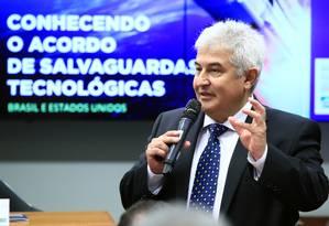 O ministro de Ciência e Tecnologia, Marcos Pontes, em audiência na Câmara Foto: Divulgação/Câmara