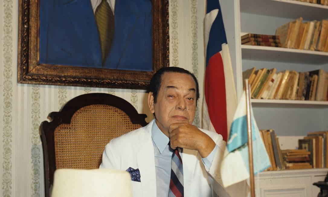 O ator Paulo Gracindo como Odorico Paraguaçu em