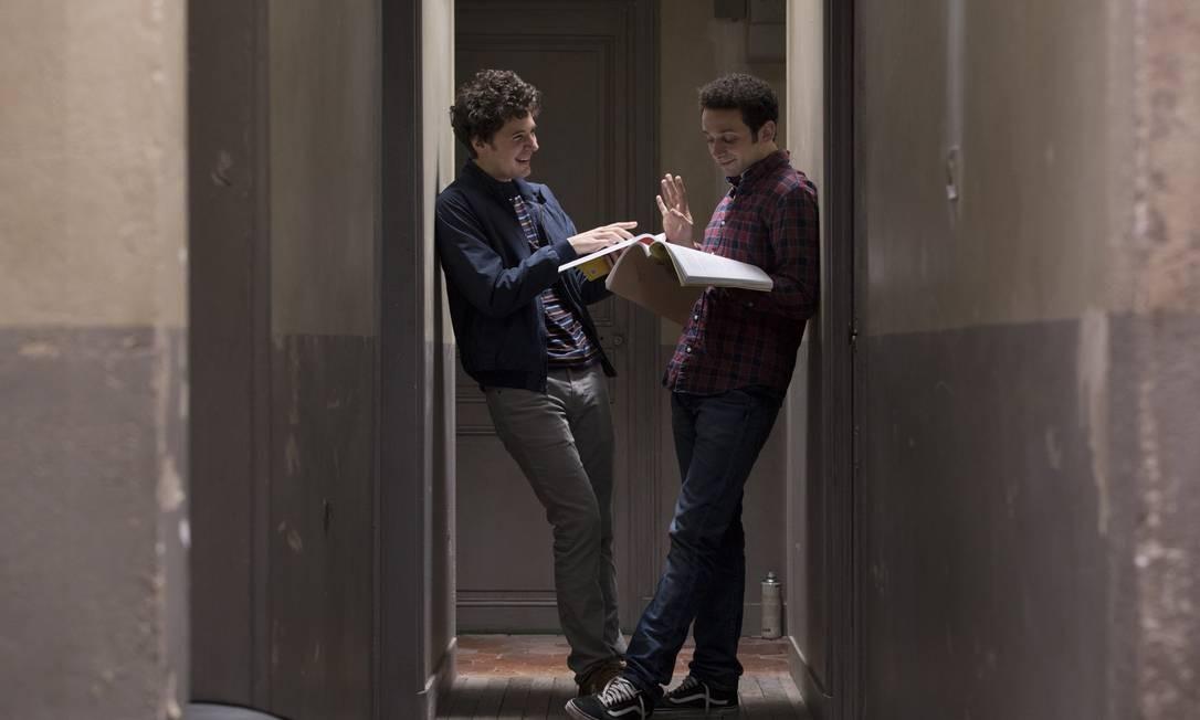 Vincent Lacoste e William Lebghil estão no filme 'Primeiro ano' Foto: Divulgação/Denis Manin