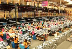 Centro de distribuição do Netshoes em SP Foto: Divulgação / Agência O Globo