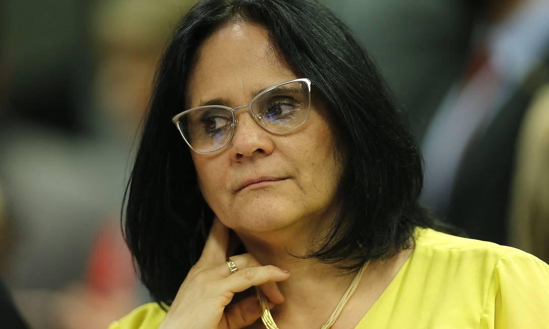 """Damares: ministra afirmou que não fará """"militância"""" nem contra nem a favor da descriminalização do aborto Foto: Jorge William / Agência O Globo"""