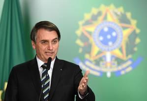Bolsonaro: jantar com embaixadores de países islâmicos para afastar mal-estar após viagem a Israel Foto: EVARISTO SA / AFP/9-4-2019