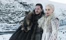 Jon Snow (Kit Harington) e Daenerys Targaryen (Emilia Clarke) em 'Game of thrones' Foto: Divulgação