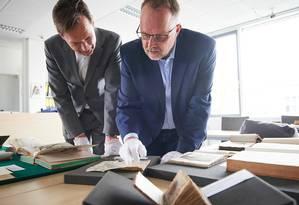 Entre as obras encontradas há raros manuscritos medievais Foto: Divulgação/ Volker Lannert/Uni Bonn
