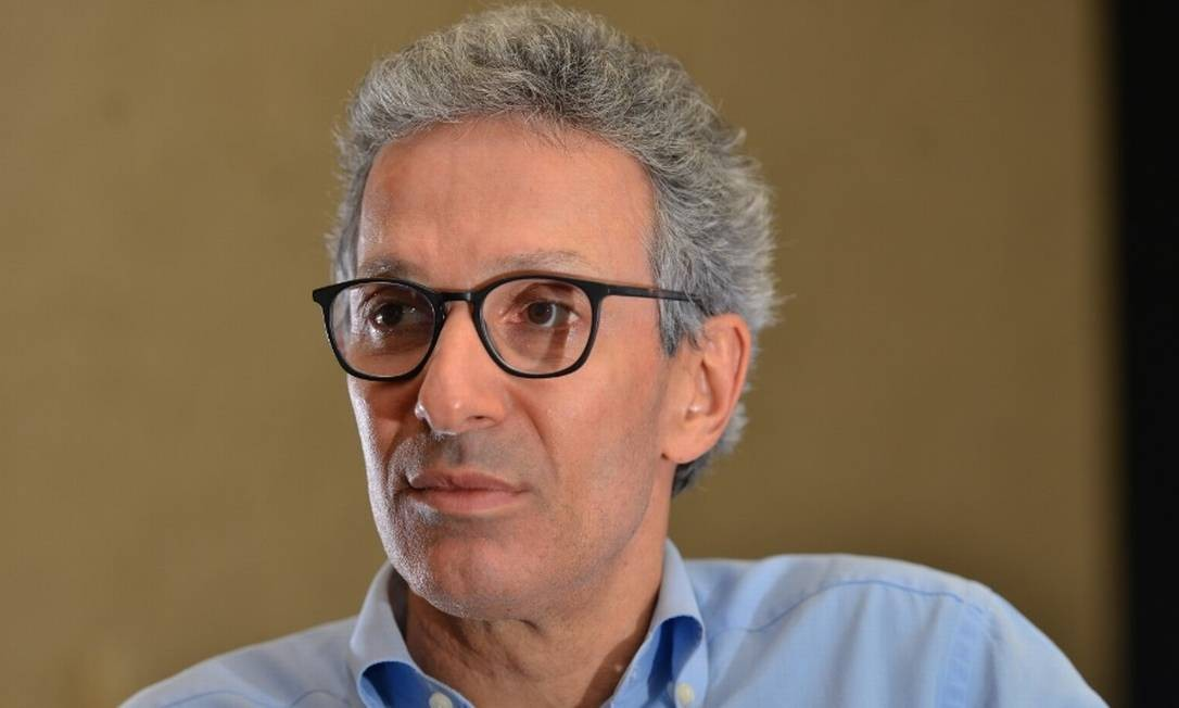 O governador de Minas, Romeu Zema, participou de evento para investidores em Nova York Foto: O Tempo/Agência O Globo