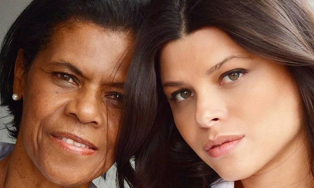 Michele e a mãe, Neide Pin Foto: Arquivo pessoal
