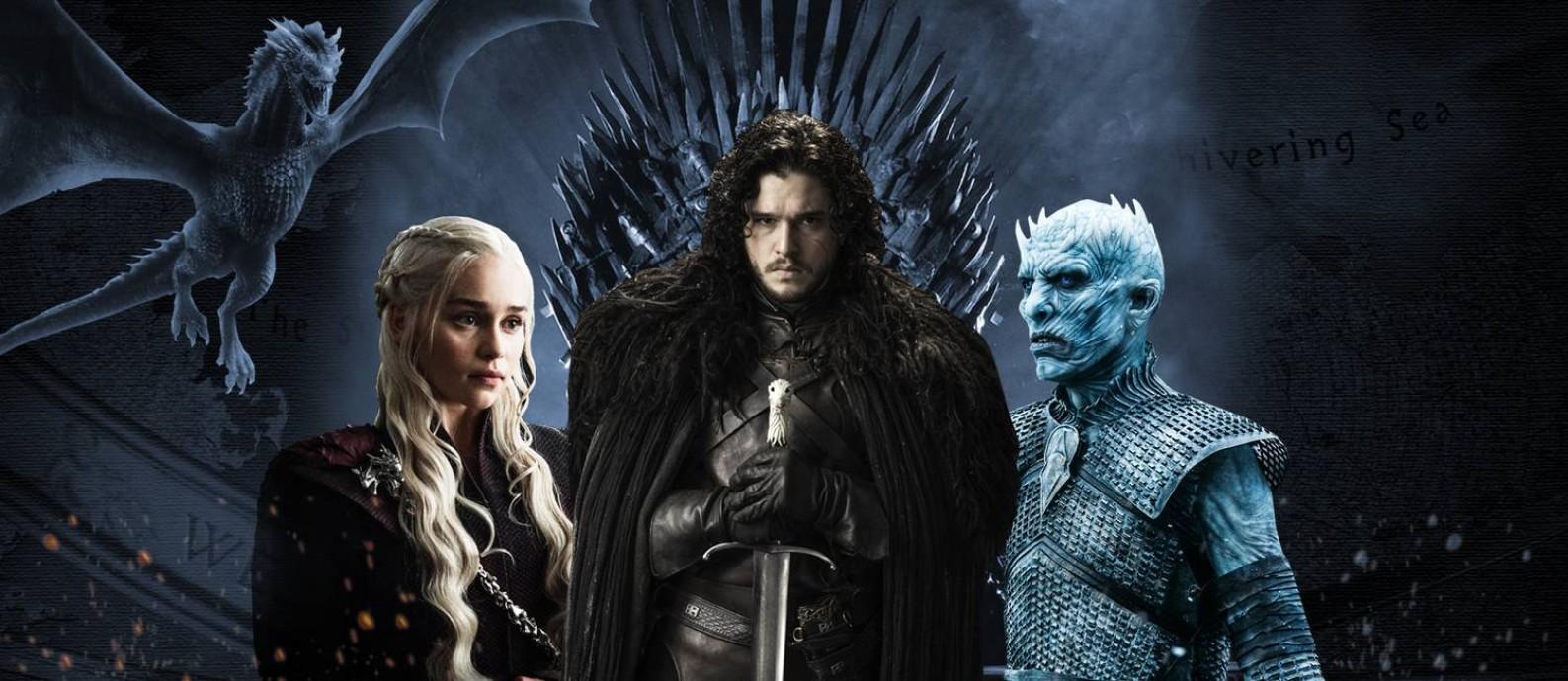 'Game of thrones' volta neste domingo Foto: Arte com fotos de divulgação