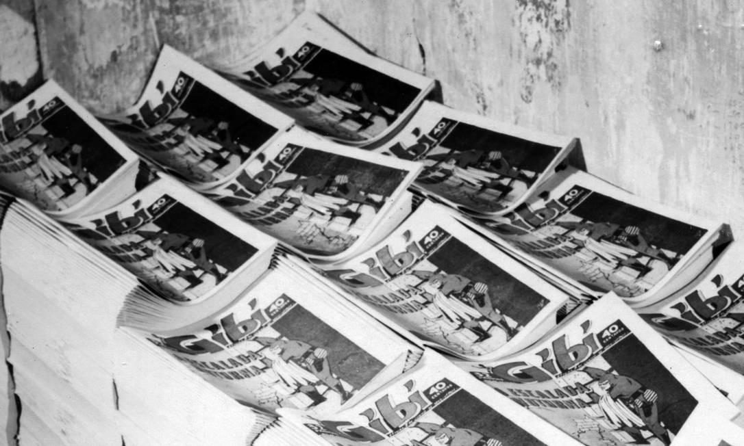 Em maio de 1944, envio da revista Gibi na antiga sede do jornal O Globo Foto: Arquivo O Globo / Agência O Globo