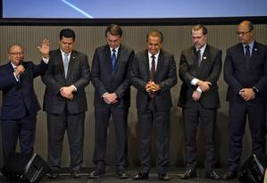 Bolsonaro se reúne com líderes evangélicos no Rio Foto: MAURO PIMENTEL / AFP