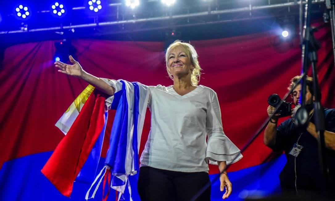 Ex-ministra Carolina Cosse, principal nome da Frente Ampla para as eleições presidenciais no Uruguai Foto: Divulgação