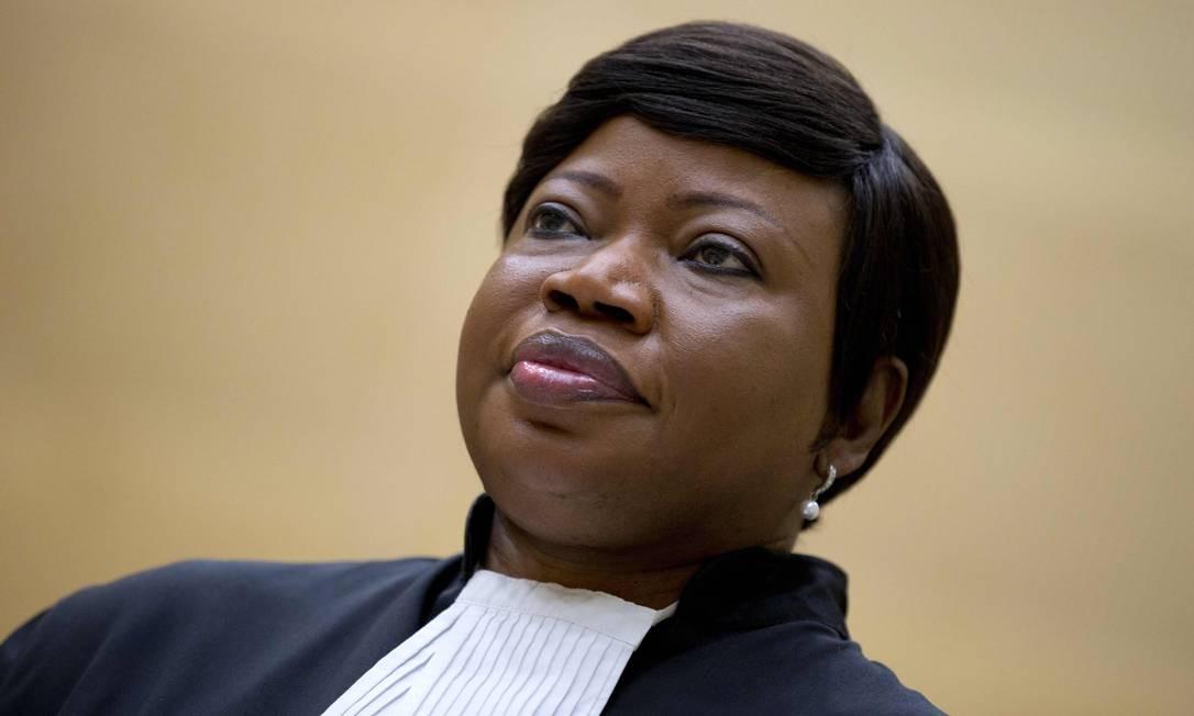 Promotora-chefe do TPI, Fatou Bensouda Foto: PETER DEJONG / AFP
