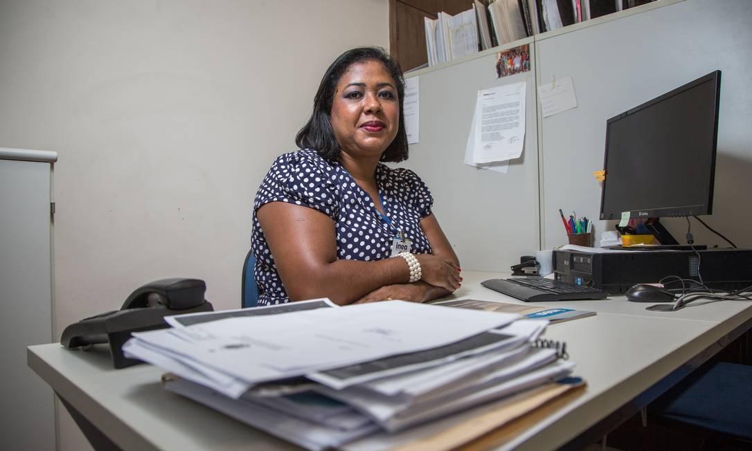 A engenheira Luciana Ventura, formada pela UERJ Foto: Emily Almeida / Agência O Globo