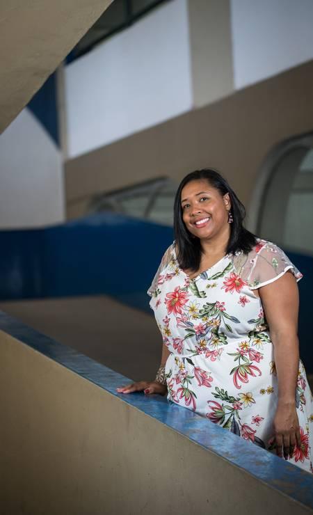 A professora de Matemática Luciene Ventura, formada pela Uerj Foto: Emily Almeida / Agência O Globo