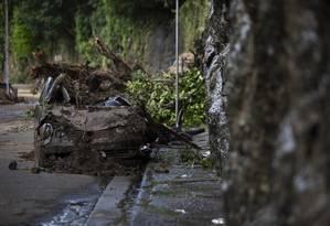 Ladeira do Leme, local do acidente fatal que vitimou 3 pessoas Foto: GABRIEL MONTEIRO / Agência O Globo