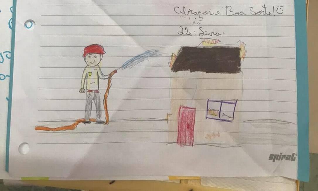 Criança de São Paulo envia carta para bombeiros em Brumadinho Foto: Divulgação