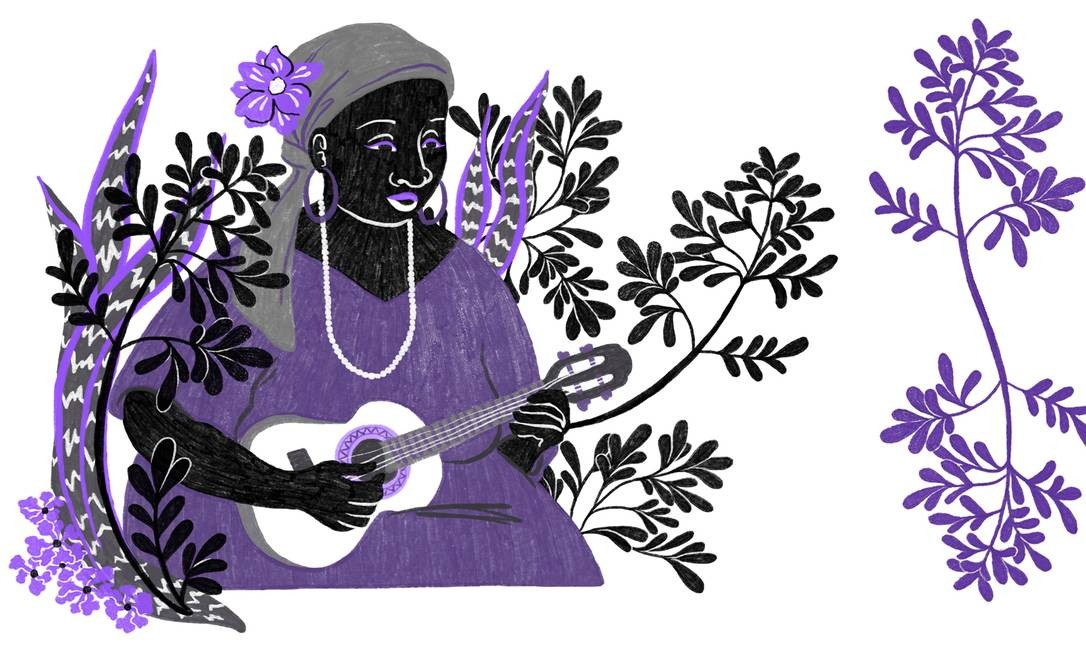 A participação das mulheres no samba cresceu, mas elas ainda enfrentam preconceitos Foto: Arte de Lari Arantes