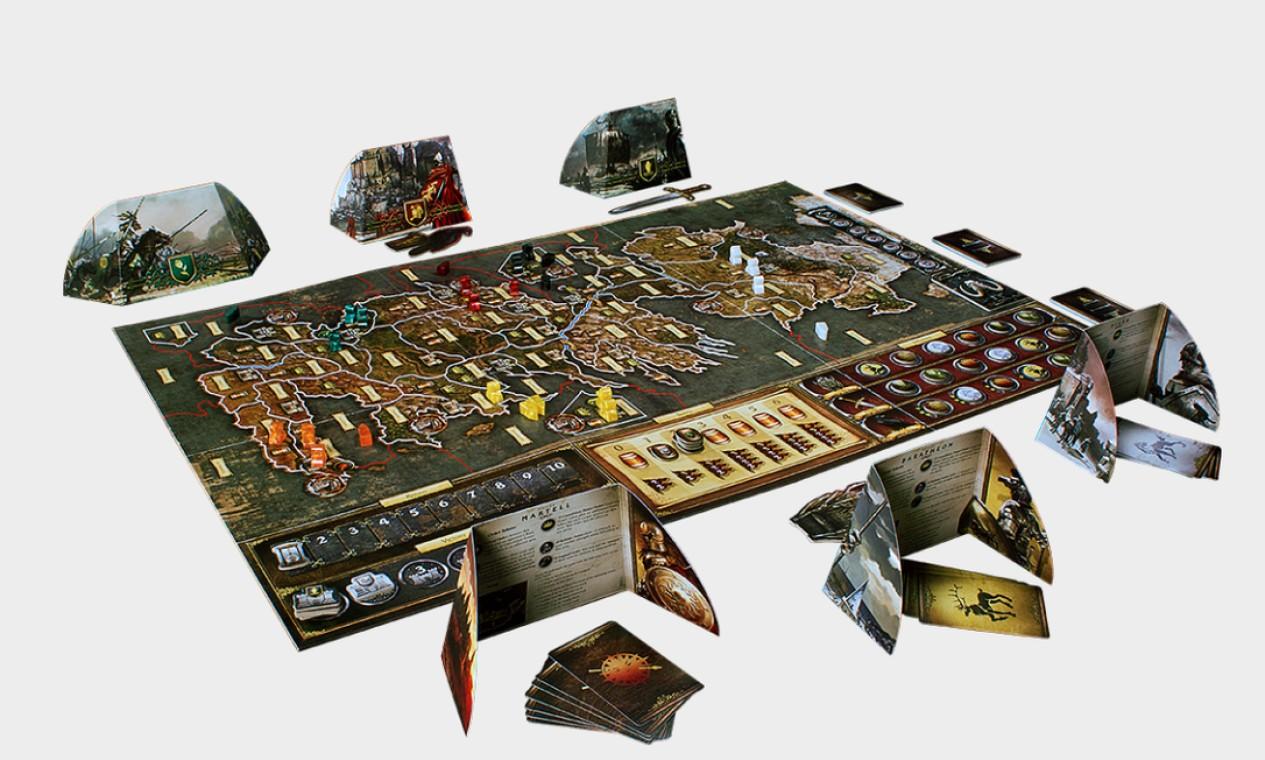 """Jogo de tabuleiro """"A Guerra dos Tronos"""", lançado no Brasil pela Galápagos Jogos. Foto: Reprodução"""
