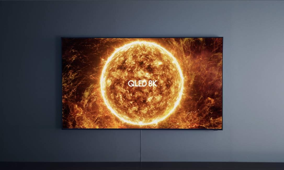 TV com resolução 8K da Samsung: carona no sucesso da saga. Foto: Divulgação