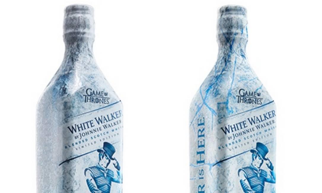 Uísque White Walker, da Johnnie Walker, para ser degustado bem gelado. Foto: Reprodução