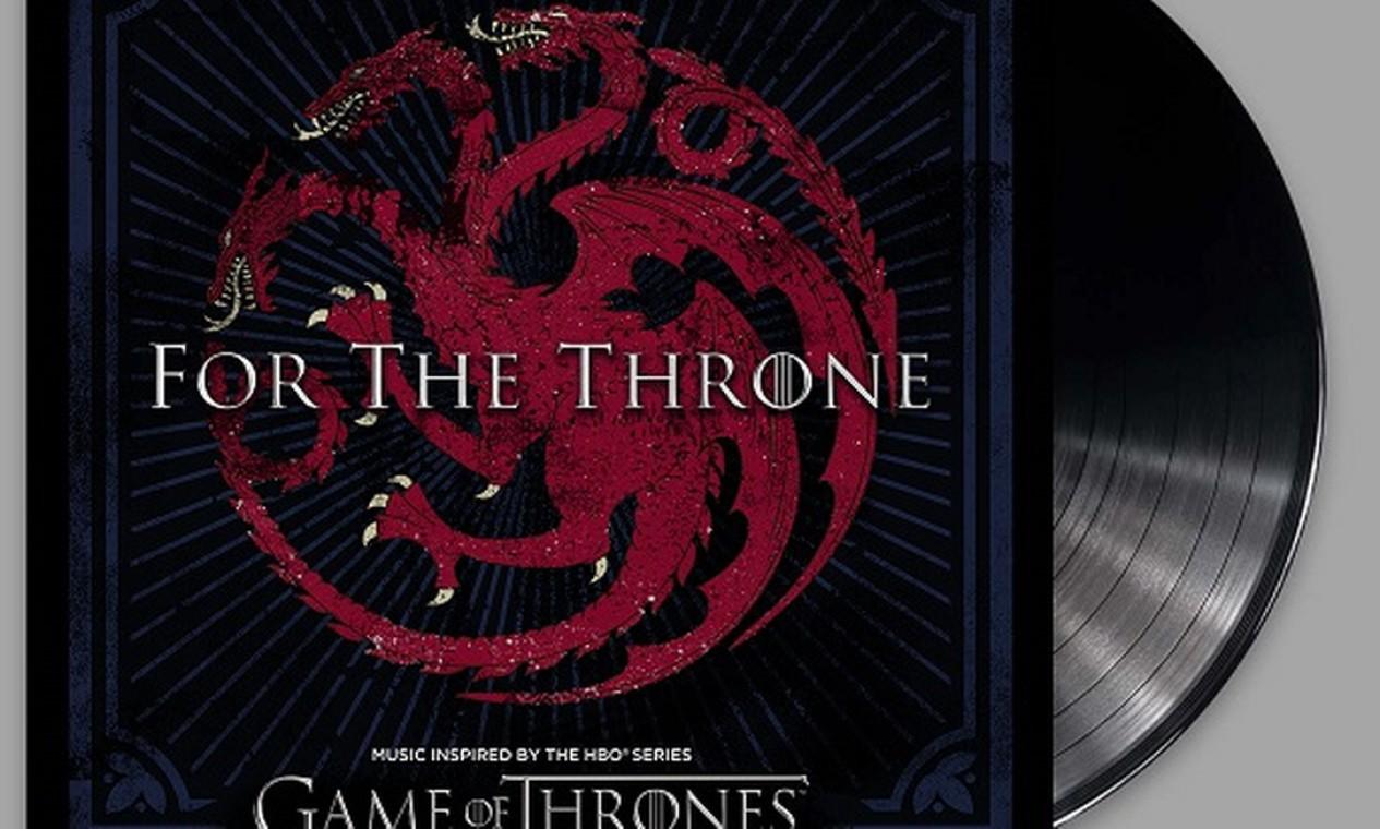 Uma das capas de vinil da trilha a ser lançada pela Sony, com o brasão Targaryen. Foto: Divulgação