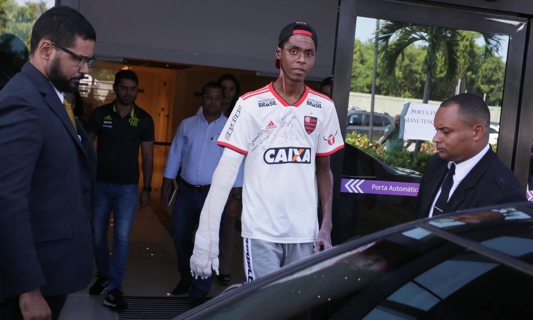 Jhonata Ventura recebeu alta em abril de 2019 Foto: Cléber Júnior/13-4-2019