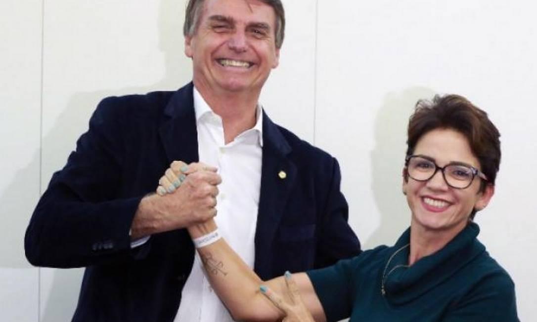 O presidente Jair Bolsonaro e a deputada Alê Silva (PSL-MG) Foto: Divulgação
