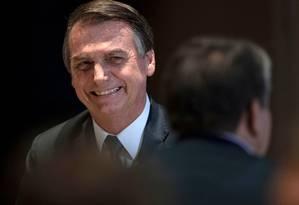 Mudança: Com novo secretário, Planalto defende que presidente seja menos resistente a falar à imprensa Foto: Mauro Pimentel / AFP