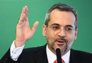 Ministro da Educação, Abraham Weintraub Foto: EVARISTO SA / AFP