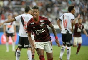 Bruno Henrique comemora gol do Flamengo sobre o Vasco na final Foto: Alexandre Vidal/Flamengo