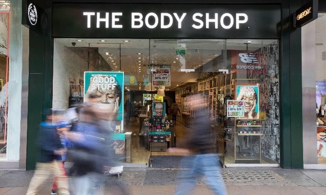 Loja da The Body Shop em Londres: rede tem nove lojas no Estado do Rio Foto: Jason Alden/Bloomberg News
