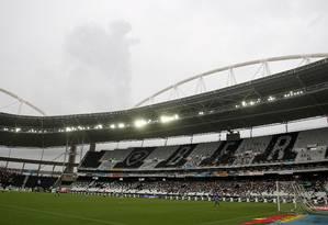 Final do Carioca teve apagão do VAR no Nilton Santos Foto: MARCELO THEOBALD / Agência O Globo