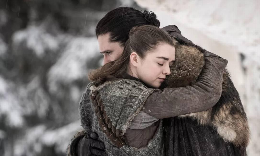 Reencontro entre Jon Snow e Arya Stark Foto: Divulgação