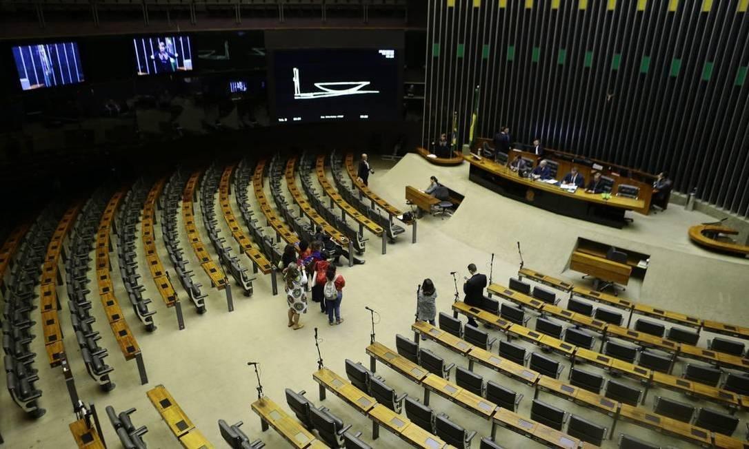 O plenário da Câmara dos Deputados Foto: Jorge William / Agência O Globo