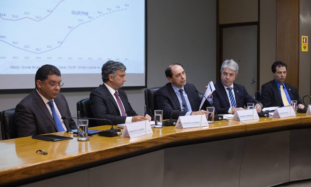 Equipe econômica apresenta projeto da LDO de 2020 Foto: Gustavo Raniere / Ministério da Economia