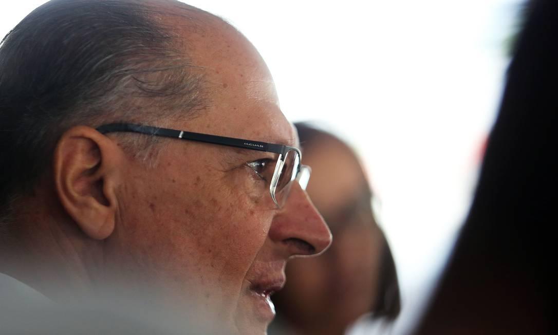 Geraldo Alckmin após reunião com o presidente Jair Bolsonaro em abril de 2019. Foto: Jorge William / Agência O Globo